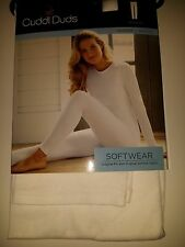 Cuddl Duds SOFTWEAR Ivory Warm Layer Legging NEW SofTech Fabric Nylon Cotton Ski