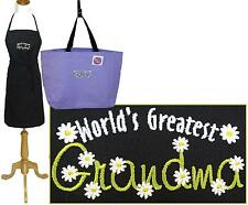 World's Greatest Grandma Apron & Tote Bag Set Monogram Custom Embroidered NWT