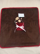Gymboree MISCHIEVIOUS MONKEY Brown Security Lovey Toy Blanket NWT BABY BOY GIFT
