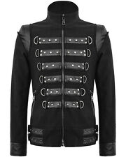 Punk Rave Corrosion Mens Jacket Black Goth Dieselpunk Punk Biker Faux Leather