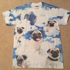 PUG dog Puppy SKY Clouds New FUNNY pet toy collar MEN'S T-Shirt S-3XL