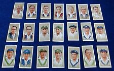 MULTI-LIST OF SINGLE VINTAGE JOHN PLAYERS CIGARETTE CARDS CRICKETERS 1934 25-50