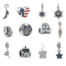 Genuine 925 Sterling Silver Charms Beads CZ Fit 925 European Bracelet Chain M7A5