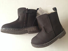 Gap Sherpa Chelsea Boots BROWN Toddler Boys Shoes NWT size 5 7 8 U Pick