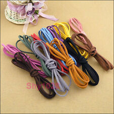 """6Strands Manmade Leather Suede Rope Cord Necklace 110cm(43"""") 12Colors-1 R5122"""