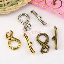 8Sets Tibetan Silver,Antiqued Gold,Bronze Connectors Toggle Clasps M1413