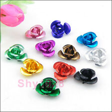 Aluminum Rose Flower Spacer Beads 7mm,9mm,12mm 14Color-1 Or Mixed R5025