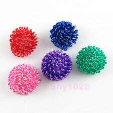 10Pcs Metal Winding Half Ball Beads Findings 8x12mm 5Colors-1 Or Mixed R5111