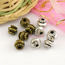 20Pcs Tibetan Silver,Antiqued Bronze Lantern Spacer Beads 6x7mm M1640