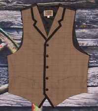 FRONTIER CLASSICS VICTORIAN OLD WEST SAN ANGELO Plaid Vest Cowboy Dickens SASS