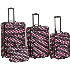 Rockland Luggage 4 Piece Expandable Luggage Set 12 Colors