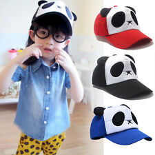 HOT Child Boys Girls Cotton Cute Cotton Panda Baseball Cap Hat Adjustable Hiphop