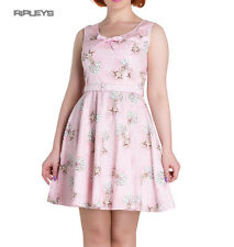 Hell Bunny Summer Mini Dress DEERY ME Vintage Dusty Pink All Sizes