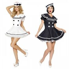 Sailor Costume Adult Sexy 50s Pin Up Girl Halloween Fancy Dress