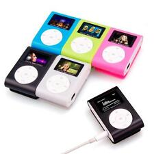USB Mini Clip Mental MP3 Player LCD Screen Support 32GB Micro SD TF Card New