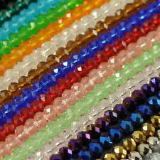 100pcs Beautiful multicolor Swarovski crystal gem loose beads 4X6mm 29 Colors