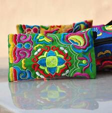 Chinese Traditional Cotton Embroidery Ethnic Handmade Wallet Bag Coin Purse Gift