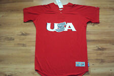 TEAM USA NEW 2013 WORLD BASEBALL CLASSIC AUTHENTIC MAJESTIC COOL BASE JERSEY
