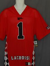 Flow Society Lacrosse Jersey Mens Size Medium Authentic Red Black New Logo LAX
