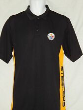 Pittsburgh Steelers Polo Golf Shirt Mens Sizes TX3 Cool Wicking NFL Team Apparel