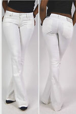geniale REPLAY Jeans WX421 Teena Impact Jeans white Flared Fit