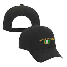 WORLD SOCCER NIGERIA FLAG Embroidery Embroidered Adjustable Hat Cap