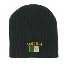 ALGERIA FLAG Embroidery Embroidered Beanie Skull Cap Hat