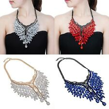 Fashion Jewelry Shiny Crystal Wing Shape Charm Pendant Chain Beauty Necklace New