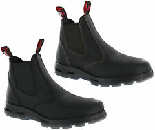 Mens Redback Leather Steel Toe Cap Safety Dealer Work Ankle Boots Size 6-12