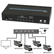 SDI 4x1 Switch BNC HD SD 3G SDI Seamless switcher Scaling 1080P + IR Remote 100m