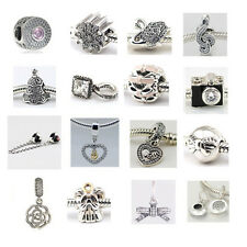 Jaime 925 Solid Sterling Silver New Arrivals D fit European Bead Charms Bracelet