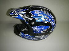 New Fulmer Four Twenty Seven Maze Blue Off Road ATV Motorcross Adult Helmet 2XL