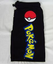 Mens Womens NEW Pokemon Eevee Black Pajama Lounge Sleep Pants Size S M L XL