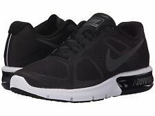 NIKE AIR MAX SEQUENT BLACK GREY WOMENS RUNNING SHOES **FREE POST WORLDWIDE