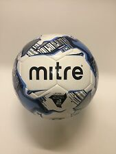 MITRE MISSION TRAINING FOOTBALL - WHITE/SKY/NAVY - SIZES 3, 4 & 5