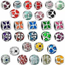 European Fashion Colorful Bead Charms For New Brand 925 Sterling Silver Bracelet