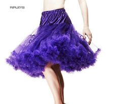 HELL BUNNY 50s SKIRT PURPLE PETTICOAT AO Long 25""