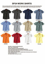 BEST PRICE Lot of 12 New Mens Short Sleeve WORK SHIRTS U PIC Size Color SP24 1st
