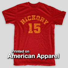 Hickory HOOSIERS Indiana BASKETBALL Larry Bird Knight AMERICAN APPAREL T-Shirt