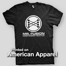 MR. FUSION Back To The Future BTTF Flux Capasitor Brown AMERICAN APPAREL T-Shirt
