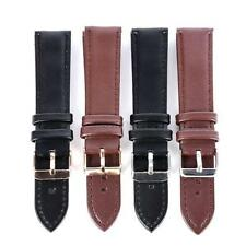 Men Male Womens Genuine Leather Watch Strap Band Watchband Metal Buckle 2 Colors