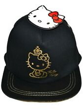 Girls/Teenagers HELLO KITTY Black BLING Summer Cap / Sun Hat   8/12  12/16  yrs