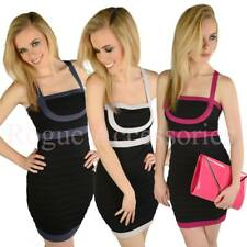Ladies Stretch Bandage Bodycon Sexy Party Short Black Dress Size  Womens