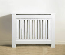 Vertical Slatted Radiator Cabinet/Cover Fully Finished White - multiple sizes