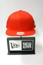 New Era 9FIFTY Plain Lava Red Colour NE Flag Logo Snapback Hat Baseball Cap