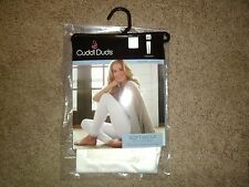 Cuddl Duds Softwear Legging Off White Warm Layers with Lace Women NWT