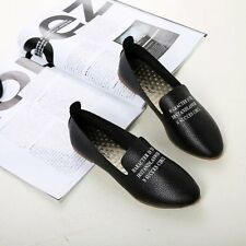 New Womens Leather Comfort Casual Walking Oxfords Flats Shoes Loafers Shoes VB4