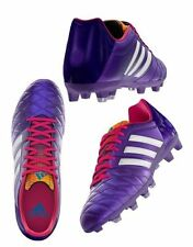 New Mens Adidas 11nova TRX FG White Purple Football Soccer Boots Size 6-12 UK