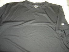 NEW BIG MENS RUSSELL ATHLETIC BLACK CREW DRI S/S SHIRT SIZE 2X