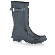 Hunter Wellington Boots - Hunter Womens Original Short Gloss Wellington Boots